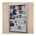 AF30-A1 aluminium noticeboard, wall-mounted