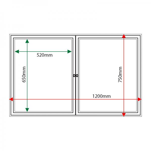External & internal dimensions of