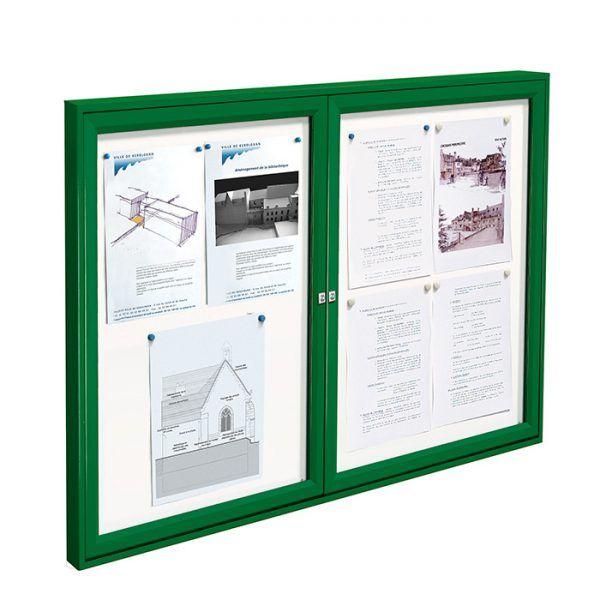 2-bay, A2, AF30 aluminium noticeboard
