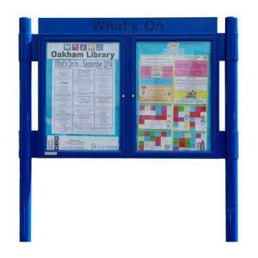 2 bay, single or double-sided, A2, A-Multi Contemporary aluminium noticeboard