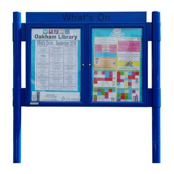 2 bay, single or double-sided, A2, A-Multi Contemporary aluminium noticeboard