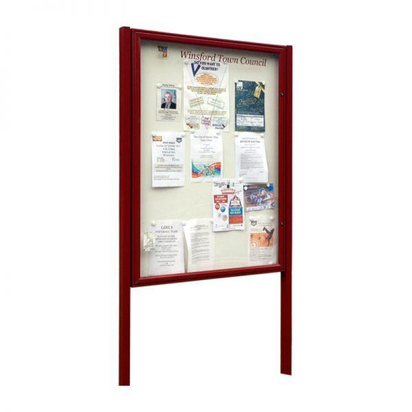 AF58-16A4 aluminium noticeboard