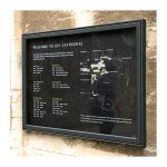 AX21 aluminium noticeboard, wall-mounted, Ely Cathedral