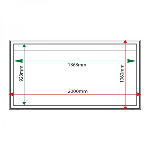 External & internal dimensions of AX27 Aluminium Noticeboard