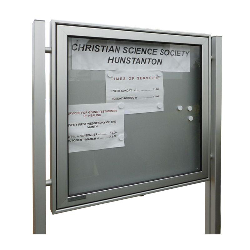 6 x A4, A-Max aluminium noticeboard