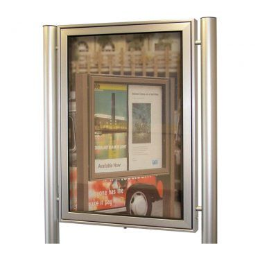 AXA1 aluminium noticeboard