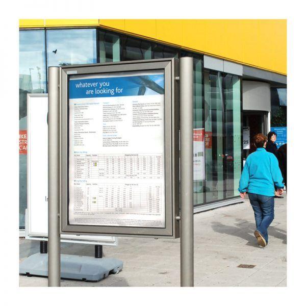 AXA1 aluminium noticeboard, Coventry City Centre