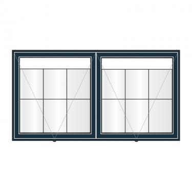 AXD6 aluminium noticeboard