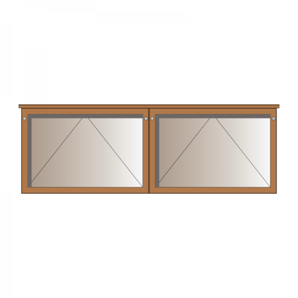 2-bay, 10 x A4 oak noticeboard