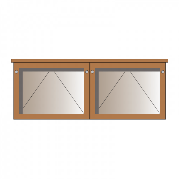 2-bay, 3 x A4 oak noticeboard