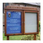 2-bay, 4 x A4 oak noticeboard, St John the Evangelist Church, Pool Quay