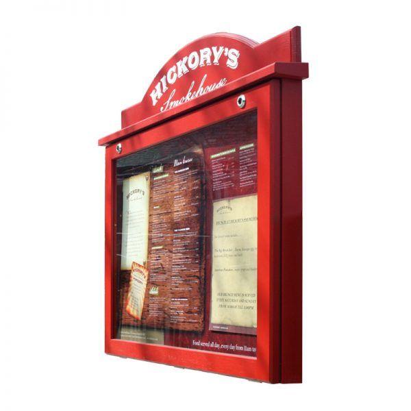 8 x A4 oak noticeboard