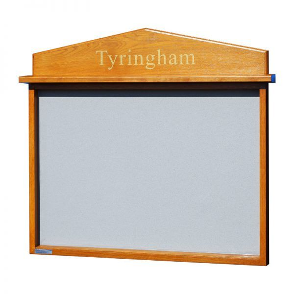 8 x A4 oak noticeboard, unglazed