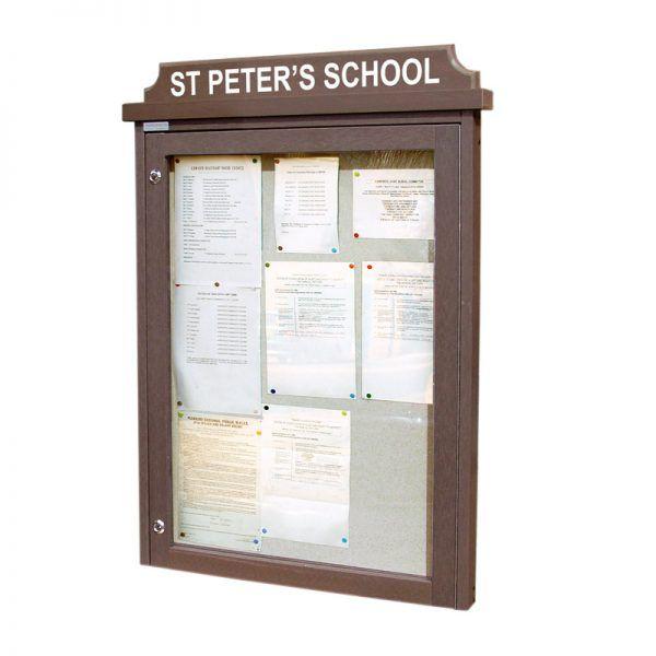 9 x A4 Man-made Timber noticeboard
