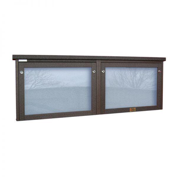 2-bay, 3 x A4 Man-made Timber noticeboard