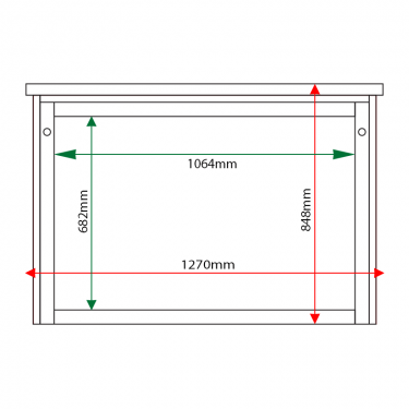 External & internal dimensions of 10 x A4 Man-made Timber noticeboard