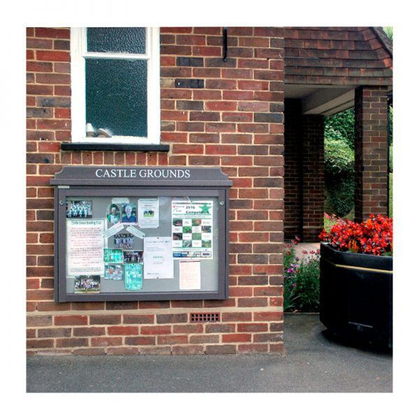 10 x A4 Man-made Timber noticeboard, wall-mounted, Guildford Borough Council