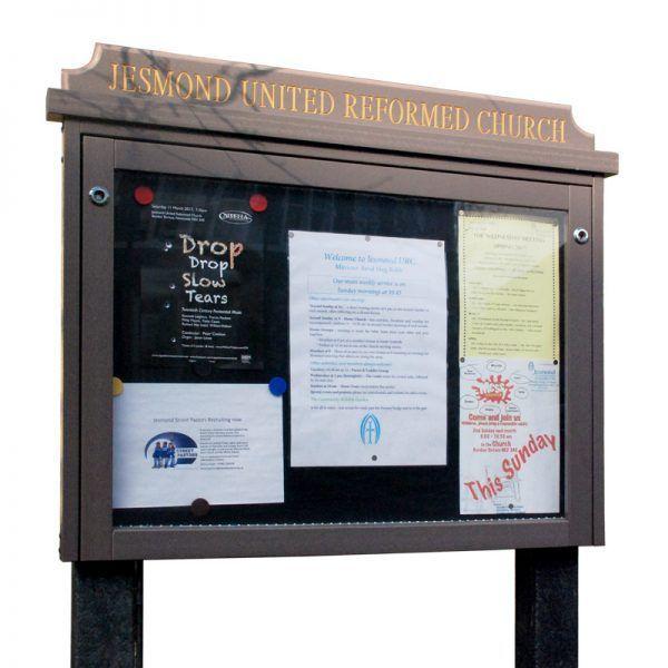 8 x A4 Man-made Timber noticeboard, Jesmond United Reform Church