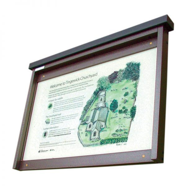 3 x A4 Man-made Timber noticeboard, unglazed with encapsulated information panel, Tingewick Church