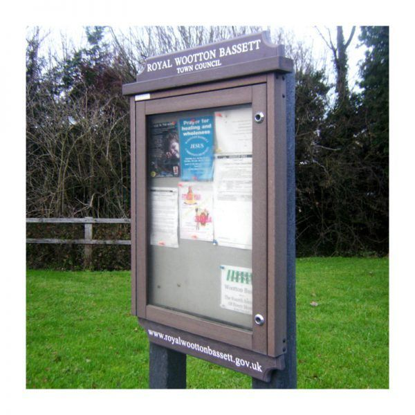 4 x A4 Man-made Timber noticeboard with header and footer panels, for Wootton Bassett Town Council