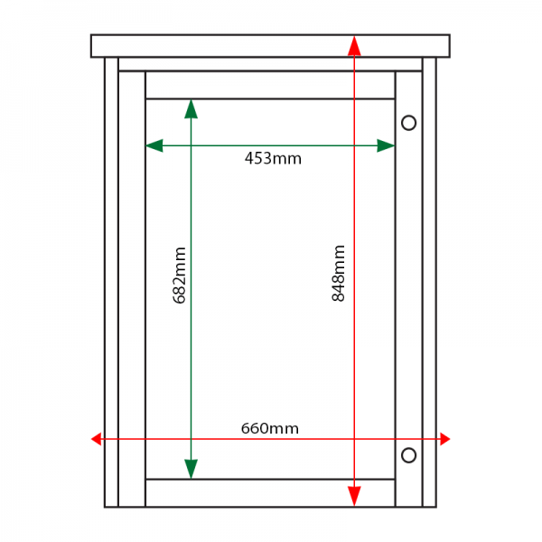 4 x A4 Man-made Timber noticeboard