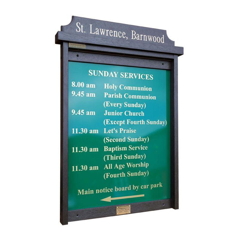 4 x A4 Man-made Timber noticeboard, unglazed