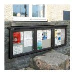 3-bay, 6 x A4 Man-made Timber noticeboard, wall-mounted, St David's City Council