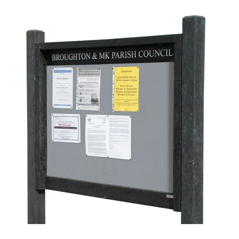 15 x A4 Apogee, heavy-duty, unglazed, recycled plastic noticeboard