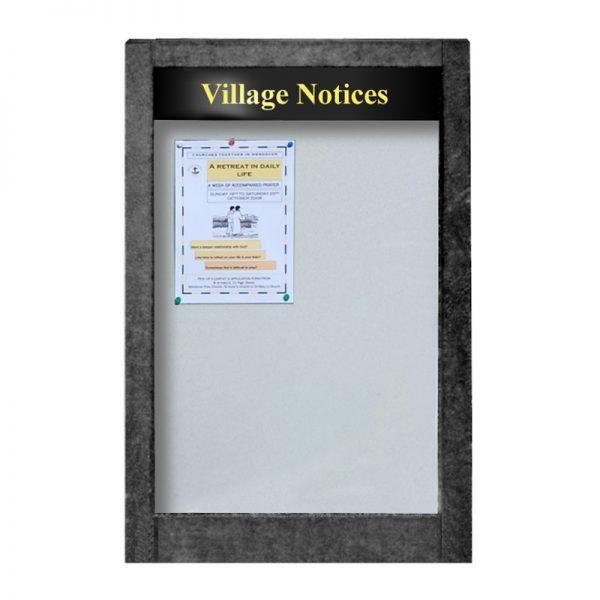 6 x A4 Apogee, heavy-duty, unglazed, recycled plastic noticeboard