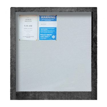 12 x A4 Apogee, heavy-duty, unglazed, recycled plastic noticeboard