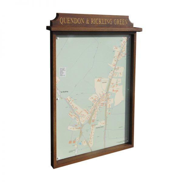 9 x A4 oak noticeboard, unglazed
