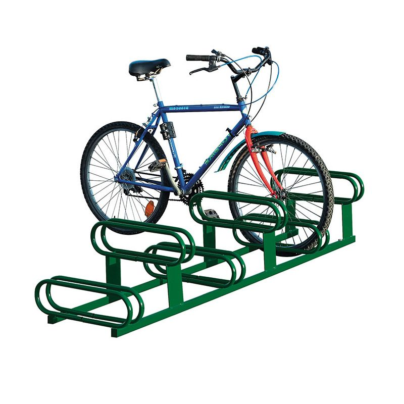 Outdoor furniture for Schools: Powder-coated steel bicycle rack
