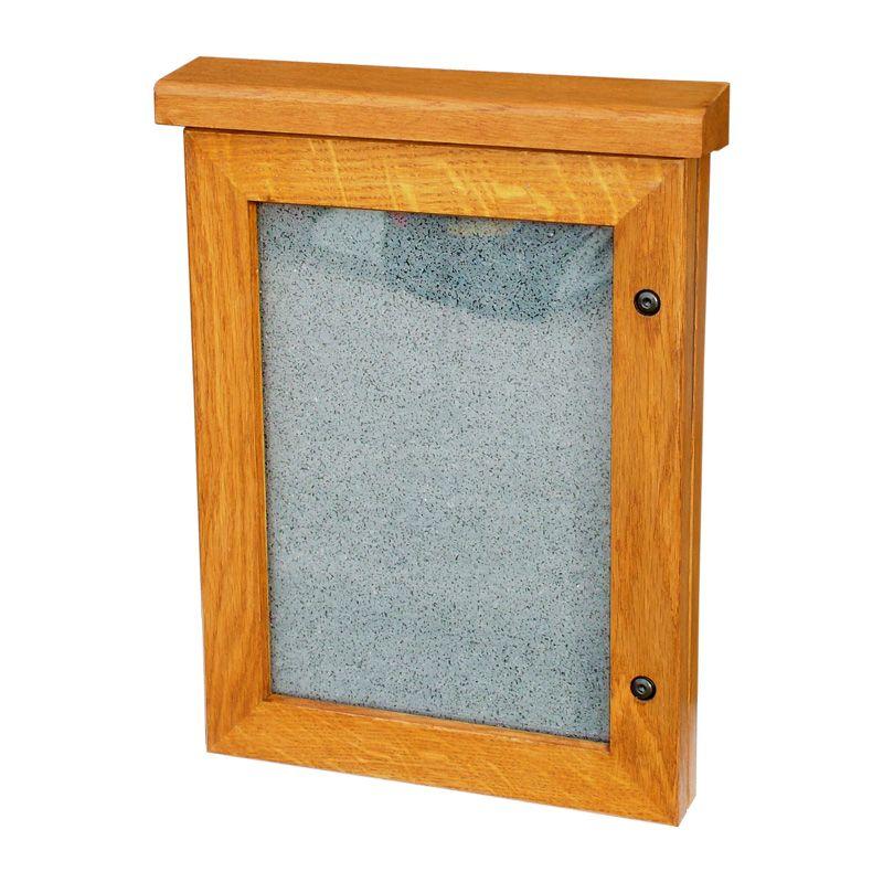 School poster cases: oak-framed Smallboard poster case