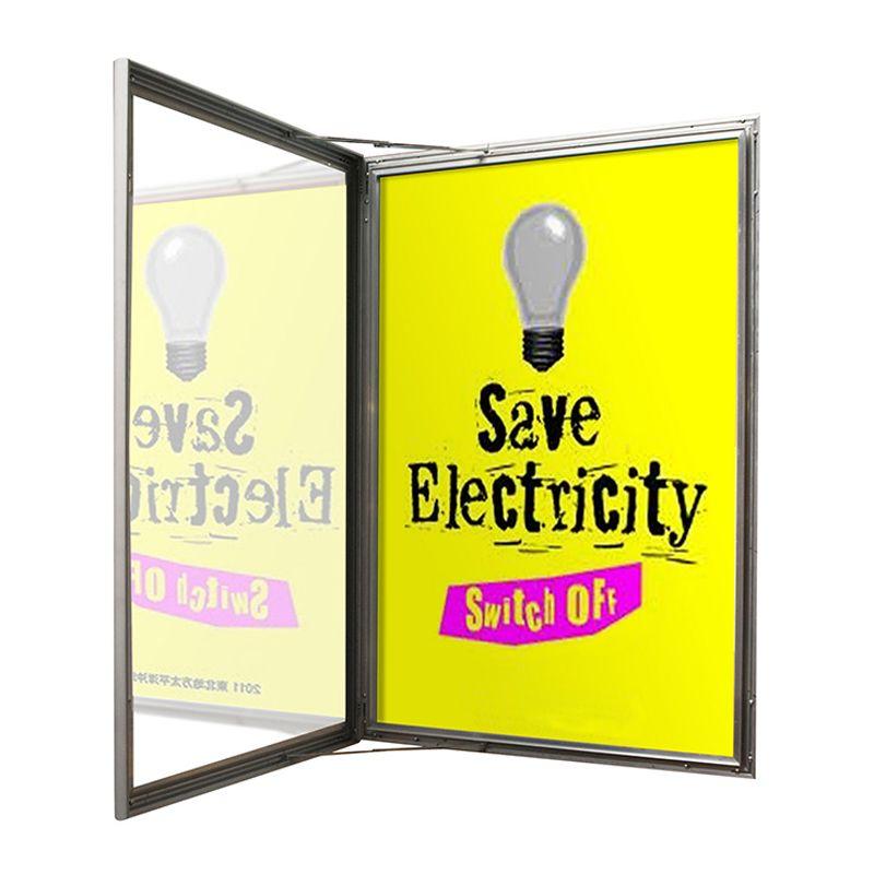 School poster cases: Aluminium poster case