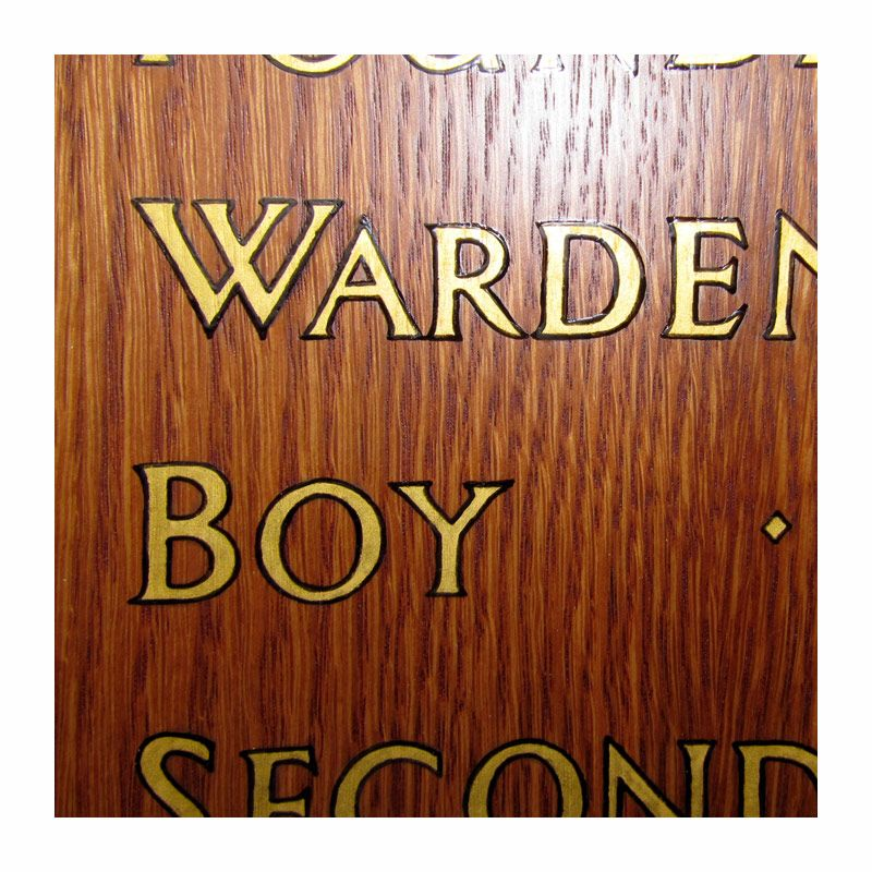Special projects for schools: hand-painted and lined lettering for honours board