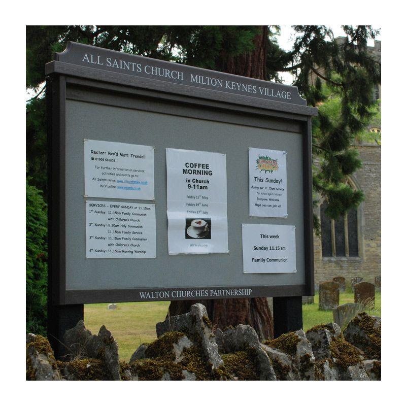 10 x A4 unglazed church notice board in recycled plastic, All Saints Church, Milton Keynes Village