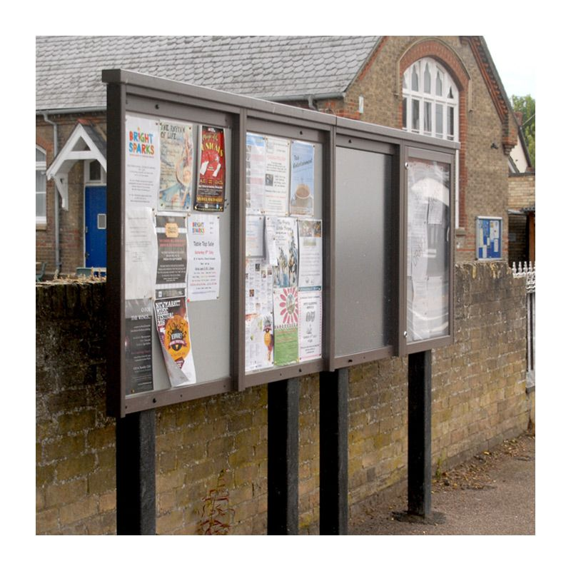 4-bay, 9 x A4, unglazed noticeboard in recyled plastic for Exning Parish Council