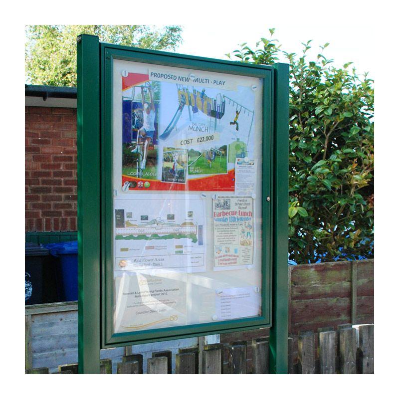 Powder-coated aluminium AF30 noticeboard for Stonnal & Lynn Playing Field Association