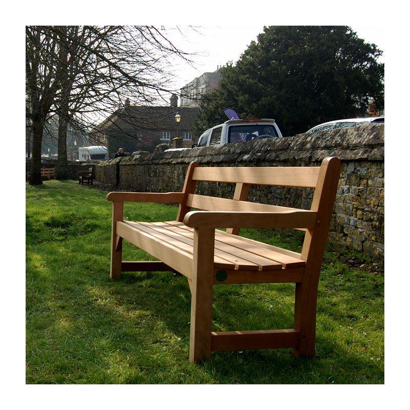 Heavy-duty hardwood park bench